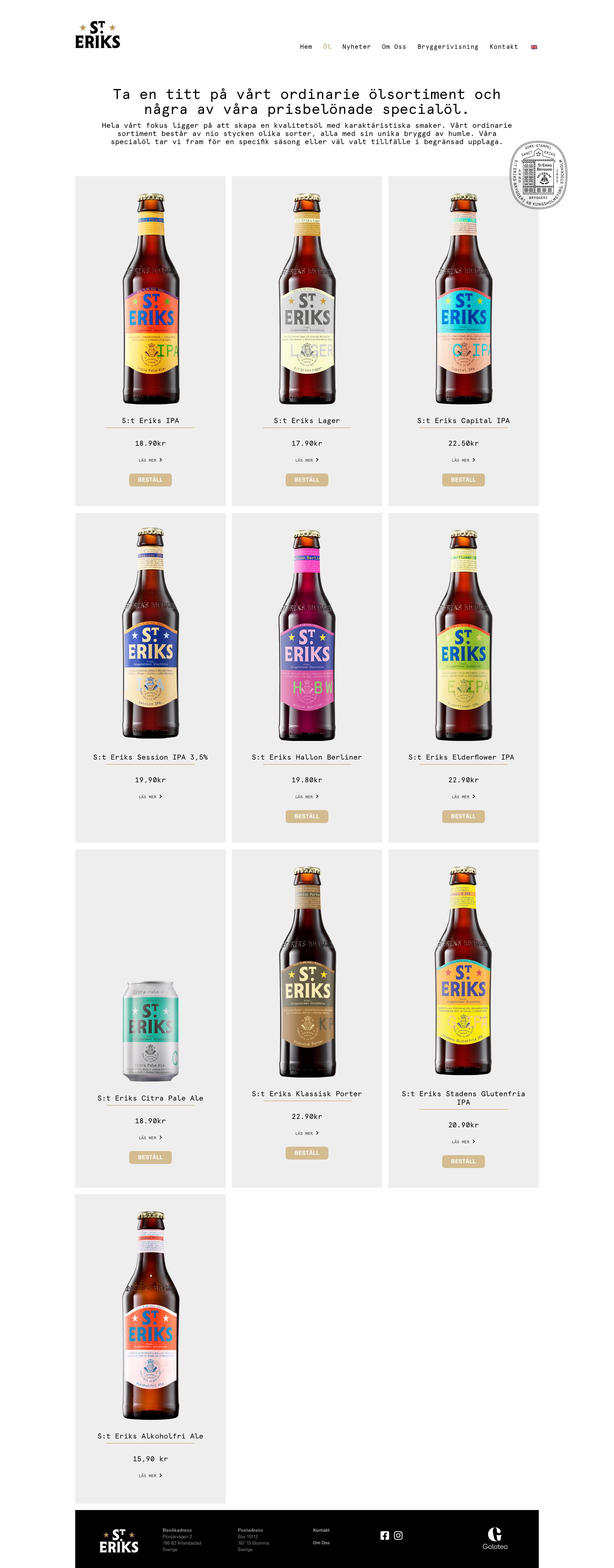 Produkter bryggeri